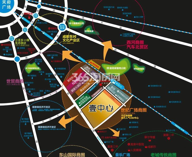 壹中心交通图