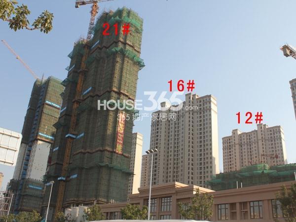 华润国际社区12#、16#、21#楼工程进度全景图(2014.12)