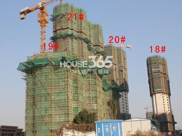 华润国际社区18-21#楼工程进度全景图(2014.12)