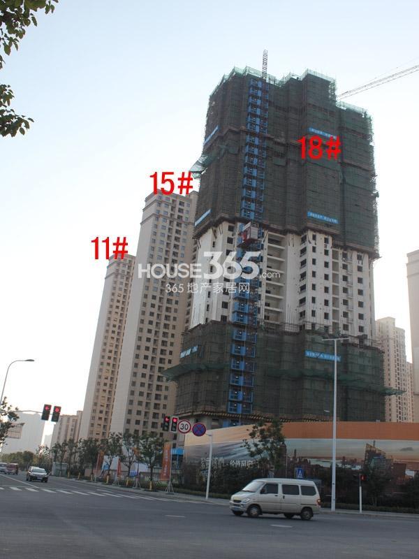 华润国际社区11#、15#、18#楼工程进度全景图(2014.12)
