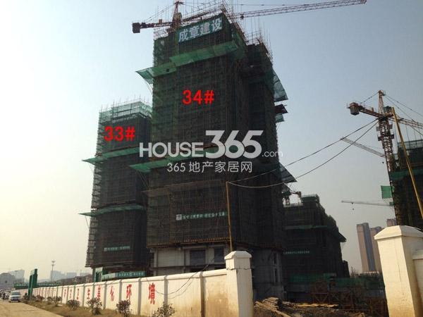 龙湖龙誉城33#、34#工程进度图(2014.12)