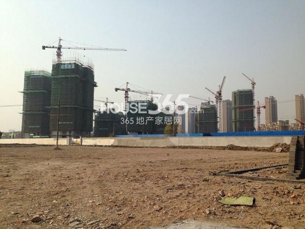 龙湖龙誉城工程进度全景图(2014.12)