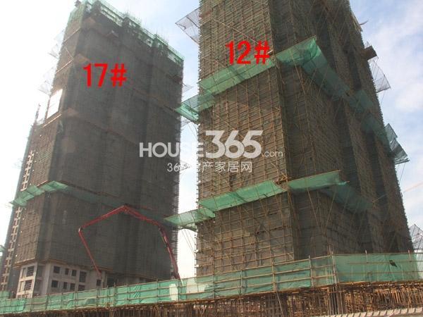 弘阳广场12#、17#楼工程进度图(2014.12)