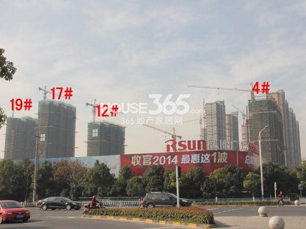 弘阳广场4#、12#、17#、19#楼工程进度图(2014.12)
