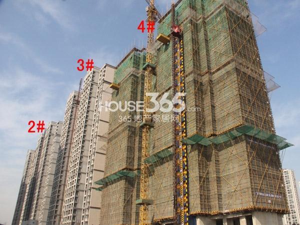 弘阳广场2-4#楼工程进度图(2014.12)
