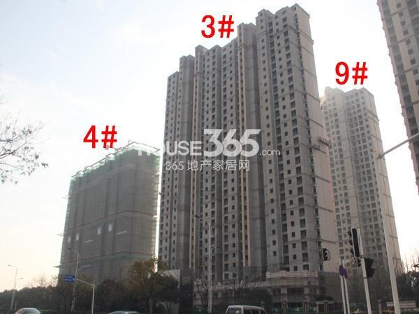 弘阳广场3#、4#、9#楼工程进度图(2014.12)