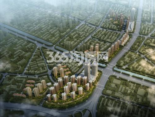 中国铁建国际城鸟瞰图