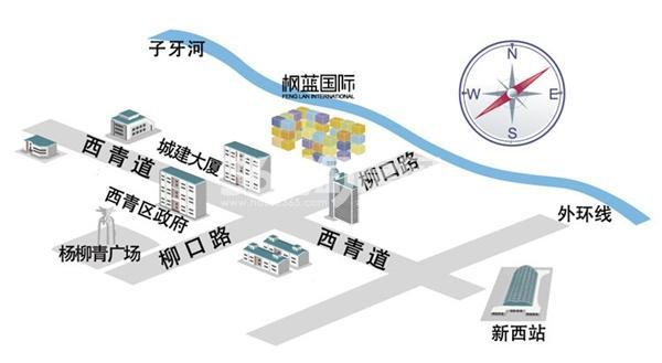 青朗园交通图