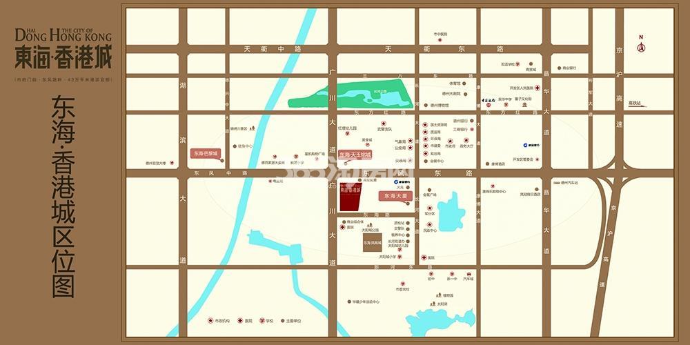 东海香港城交通图