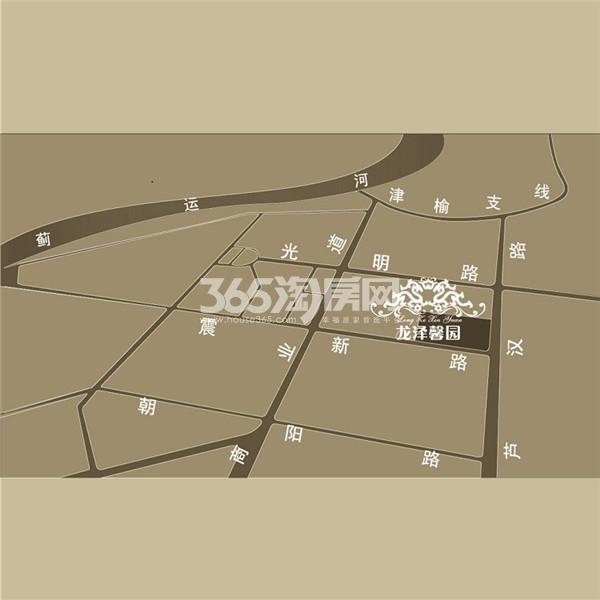 龙泽馨园交通图