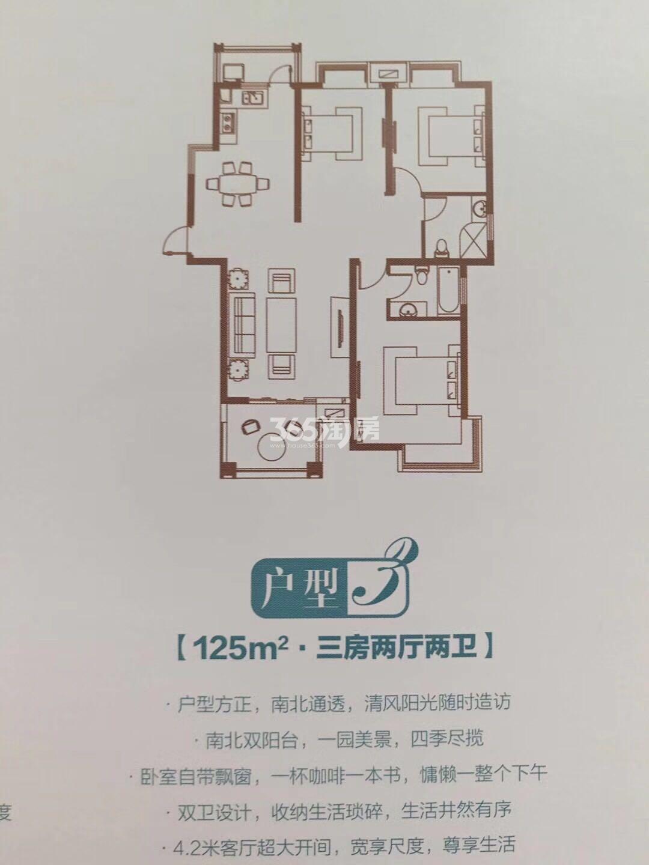 北江锦城125㎡户型图