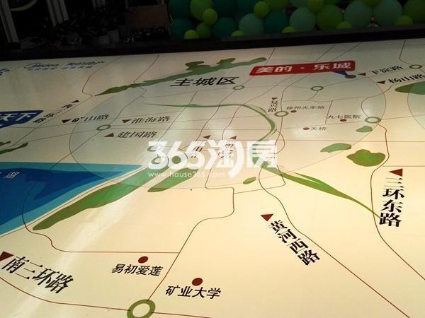 美的乐城交通图