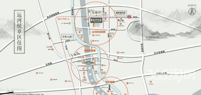 余杭崇杭街1815~1823号原运河悦章售楼处1209平整租