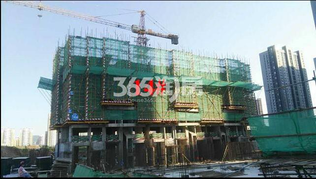 新城北宸紫郡14#工程进度实景图(10.30)