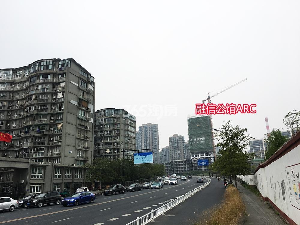 2017.10.29融信公馆ARC远拍及周边小区、道路实景