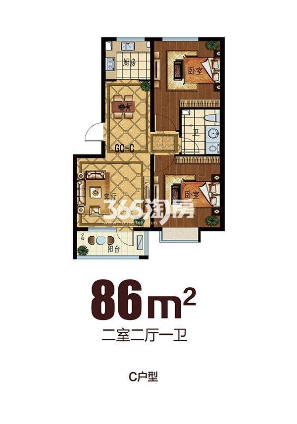 步阳江南壹号二期C户型