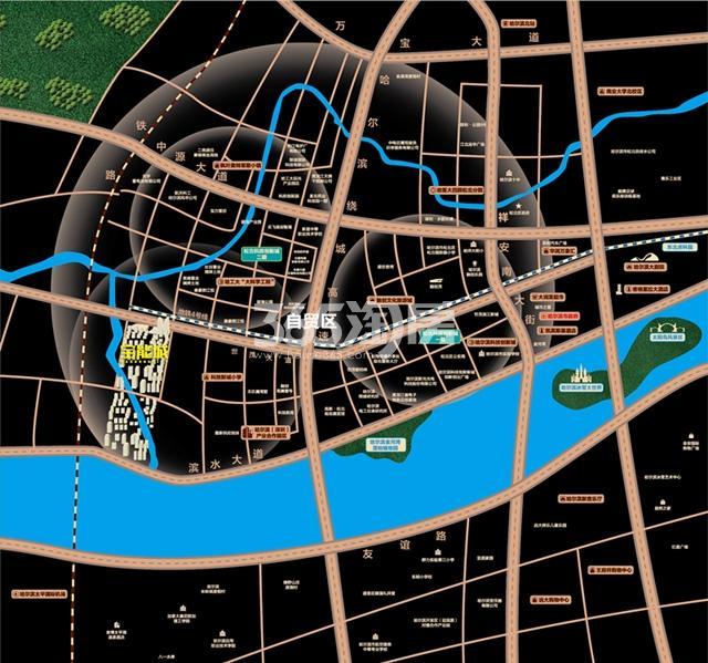 哈尔滨宝能城交通图