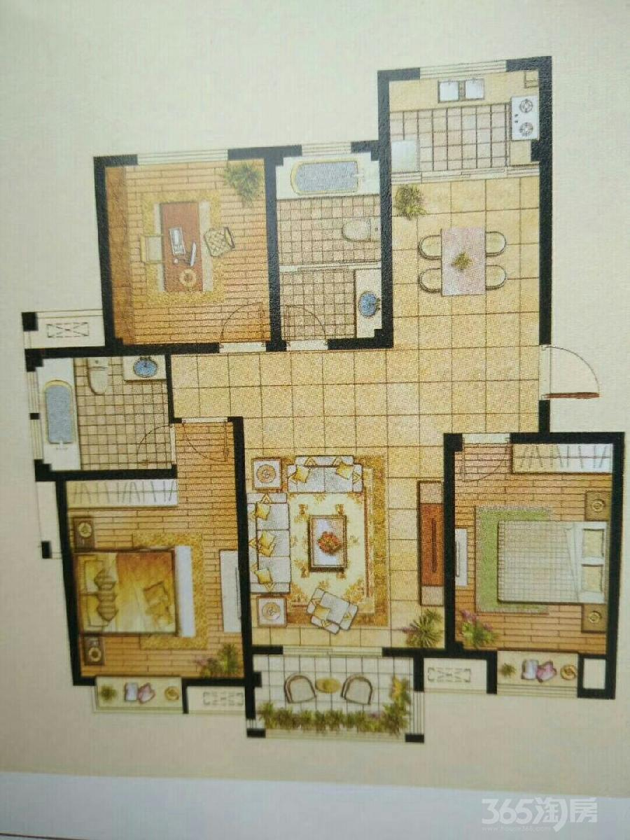 金桂香寓3室2厅1卫115平米2015年产权房毛坯