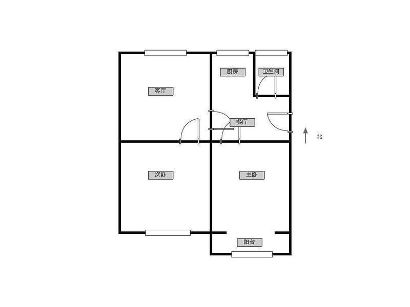 鼓楼区宁海路虎丘路小区2室1厅户型图