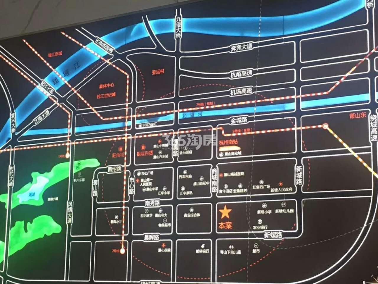 星南站交通图