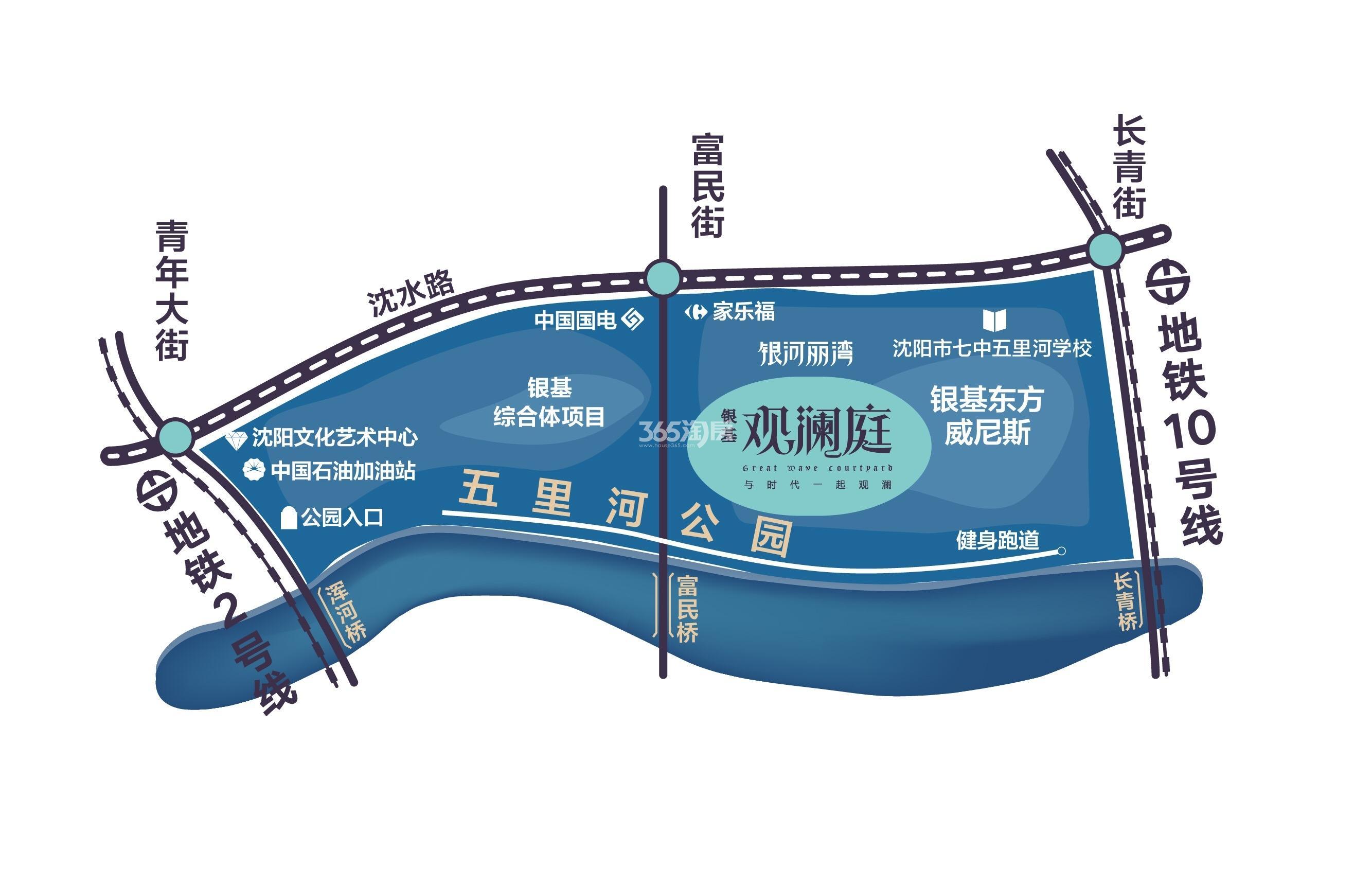 银基观澜庭交通图