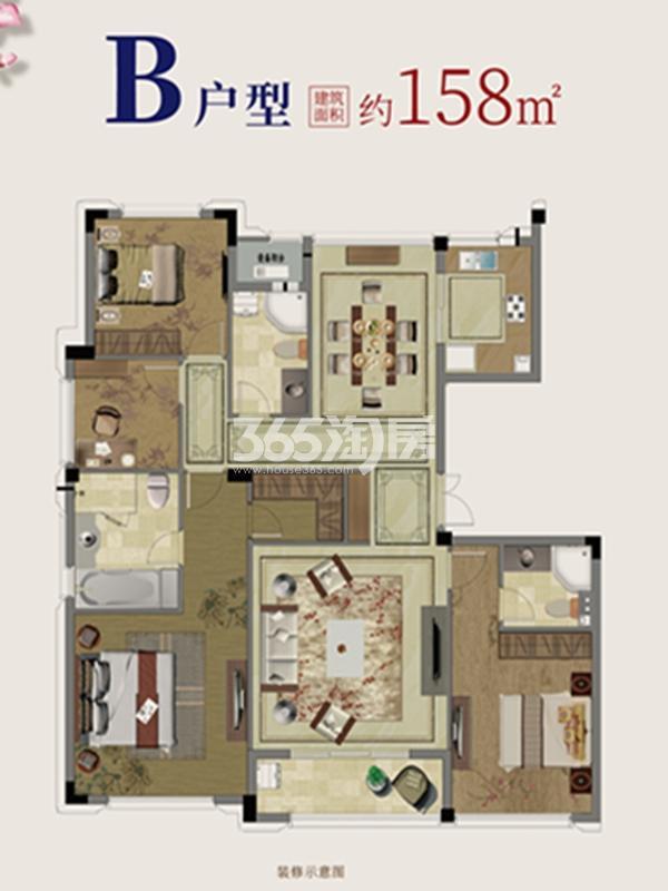 洋房B户型图