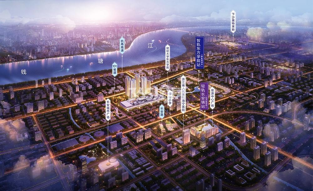 朗诗蔚蓝街区交通图