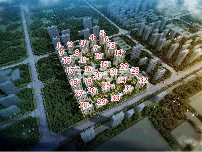 滨湖荣盛华府鸟瞰图
