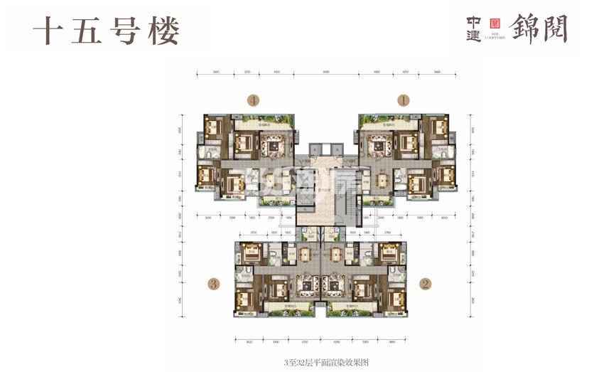 15号楼3-32平面图