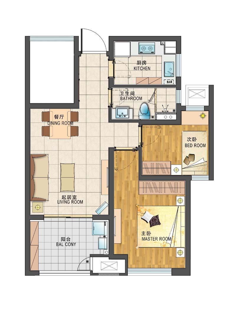 浦口区高新新城香溢紫郡3室2厅户型图