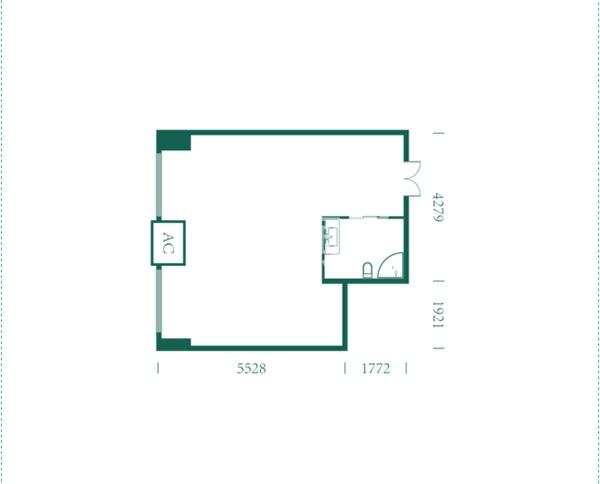 海德堡·青年特快项目户型图(建面约58.34㎡)2#楼 H户型