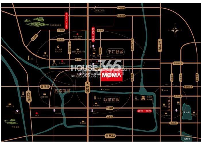 当代万国府MOMA区位图