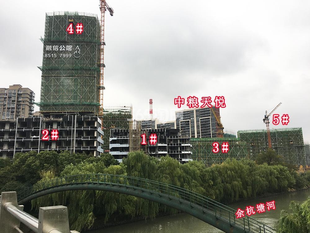 2017年12月融信公馆ARC项目1-5号楼(地名幢号)及周边实景