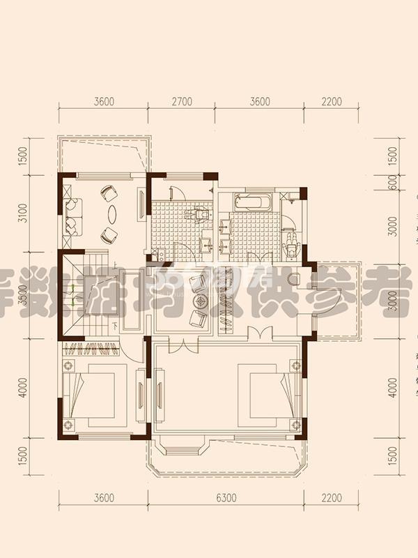 保利西山林语F26#楼01户型451㎡之二层106㎡