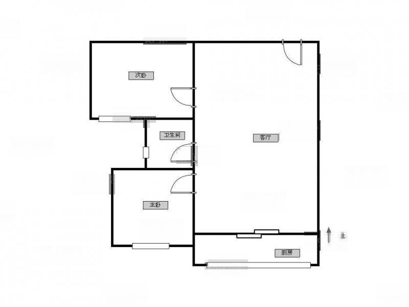 江宁区百家湖21世纪现代城西区2室1厅户型图