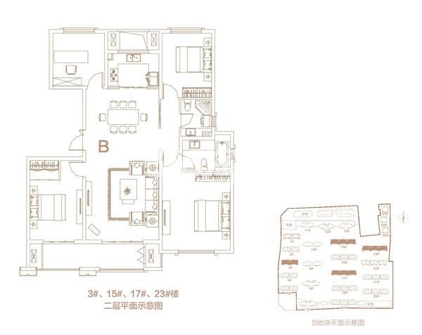 低密度多层B户型150㎡4房
