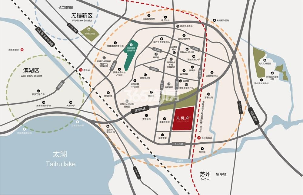 栖霞天樾府交通图