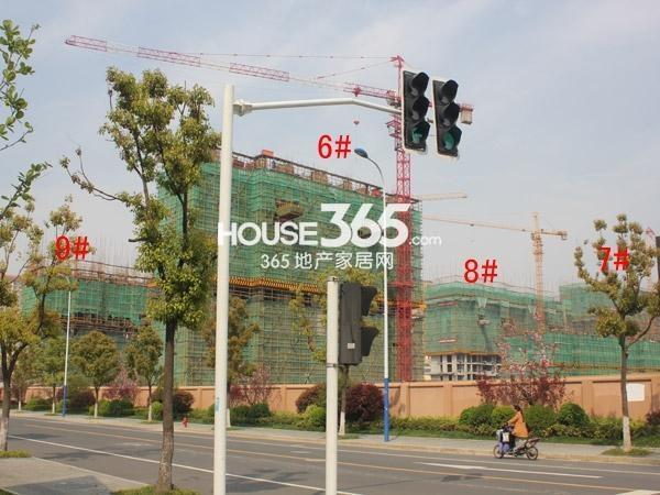 华润国际社区四期6-9#楼工程进度图(2015.4)