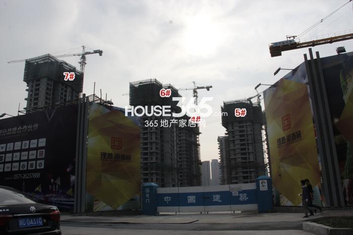 理想银泰城项目4、5、6、7号楼施工进程图(2015.4)