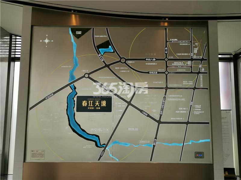 天地源龙湖春江天境交通图