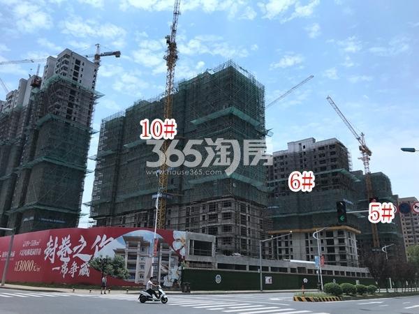栖霞东方天郡5#、6#、10#楼实景图(2019.7.30 摄)