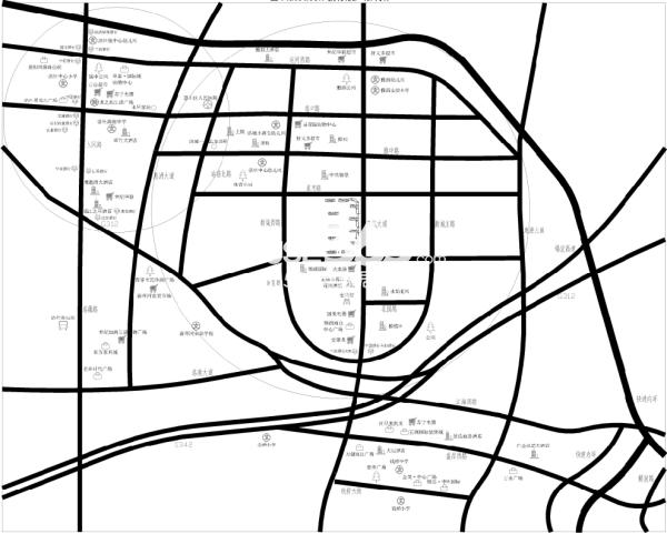 惠都·上府名园交通图