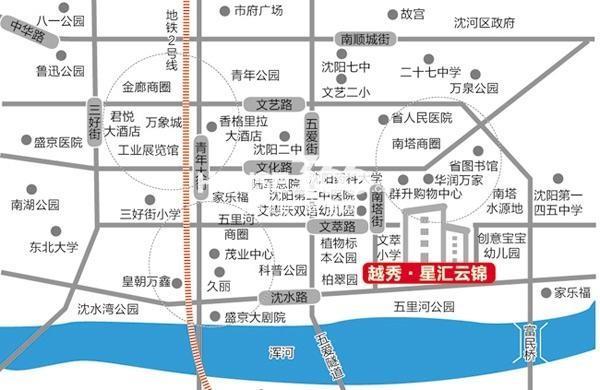 越秀星汇云锦交通图