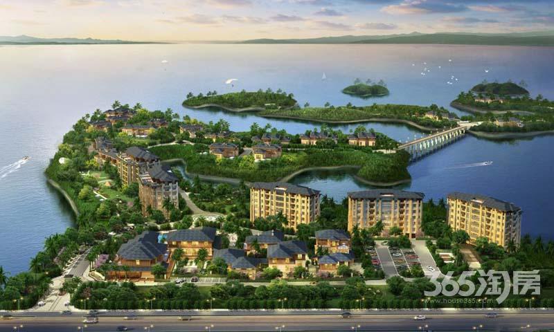 千岛湖九龙湾一线观湖三面环水稀缺花园电梯洋房不限购