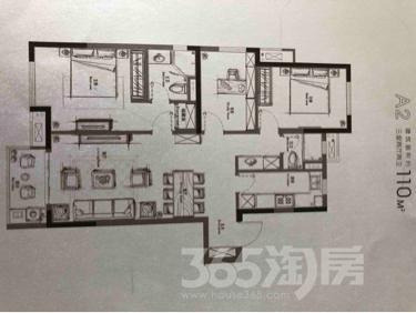 万科都荟南苑新房精装修3室2厅2卫110平米整租
