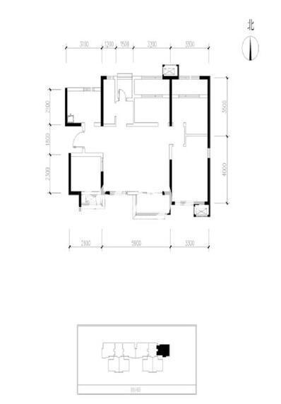 天琴湾2室2厅1卫1厨88平米