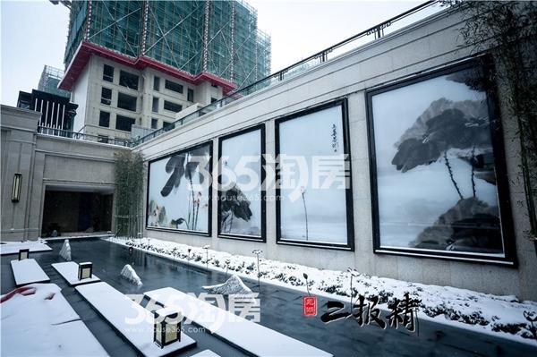 伟星玖璋台雪景景观-壁画(2018.1摄)