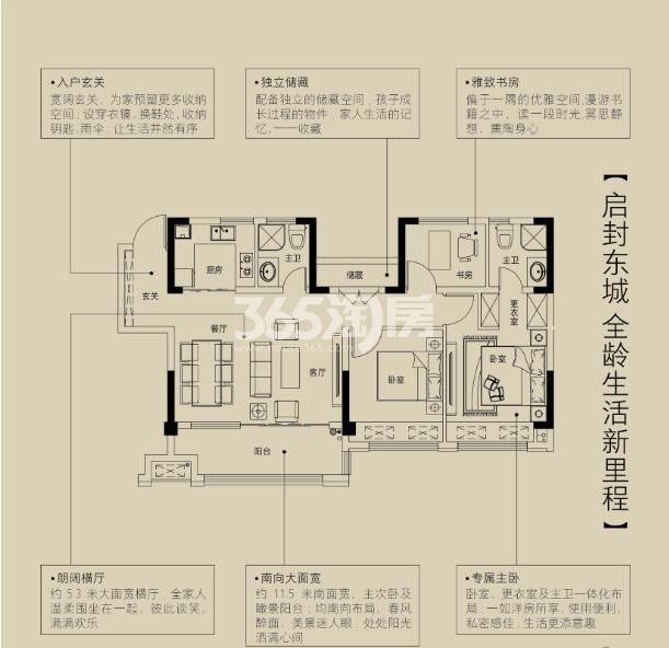金鹏珑璟台100.22平米户型图