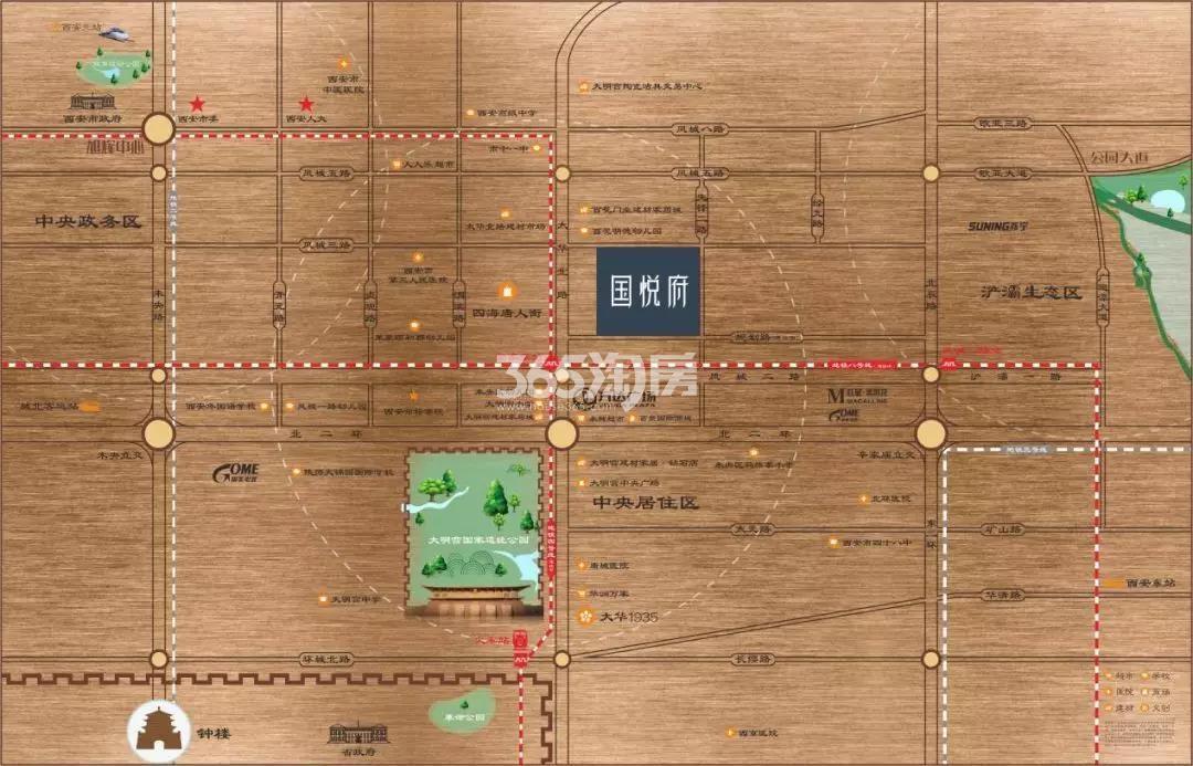 旭辉国悦府交通图