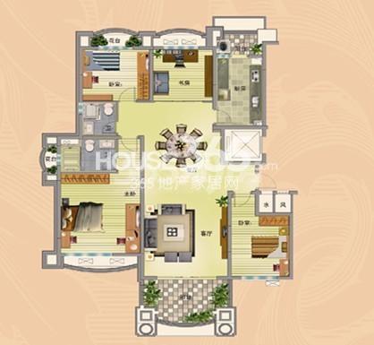 无锡碧桂园四室两厅两卫165平户型图